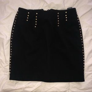 H&M Gold Studded Skirt